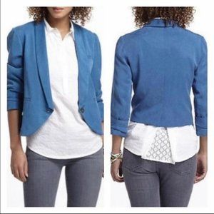 Cartonnier Anthropologie Miyette Tencel Blazer